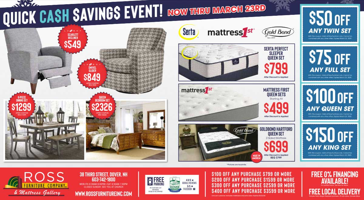 March 2020 Furniture Sale