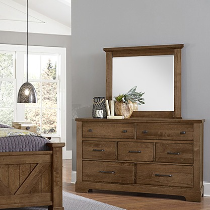7 Drawers Dresser and Mirror