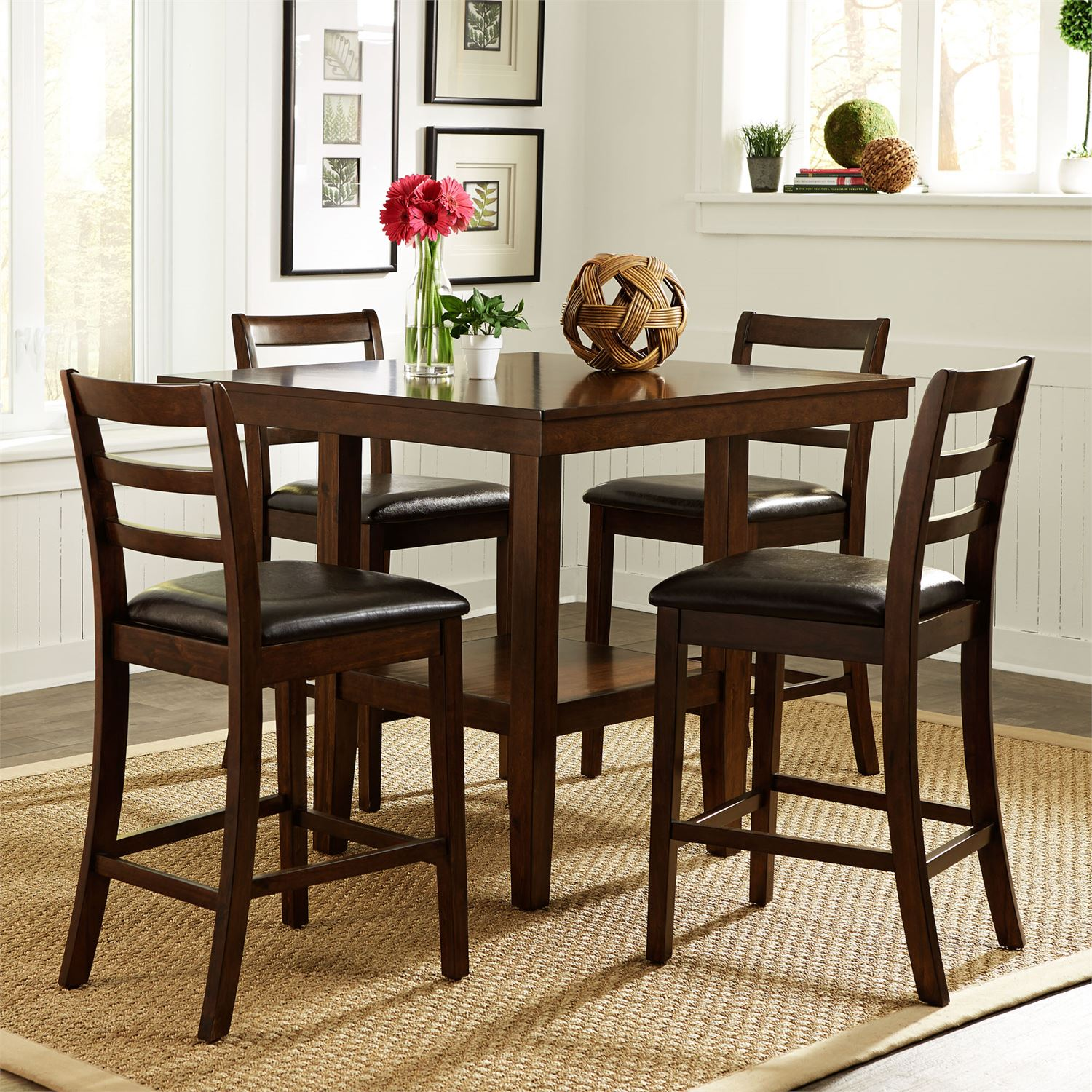 Hampton 5 piece gathering table set