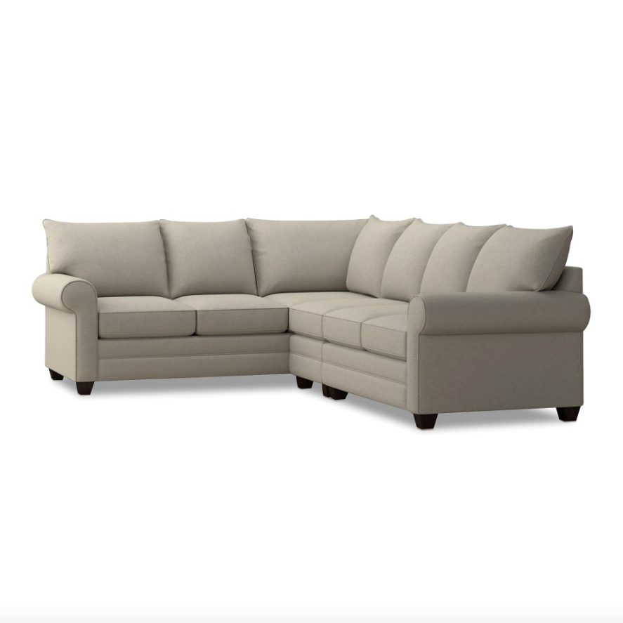 Alexander Roll Arm Large L Sectional